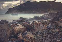 Stormy morning (kubaszymik) Tags: long exposure longexpo greec greek island waves storm stormy wind windy rocks water mood moody