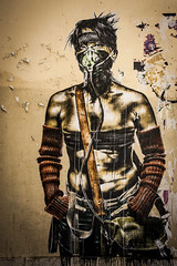 Urban hero (madmtbmax) Tags: citypics marseille street art graffiti kunst artistic creative painting wall walkby asian model hero feature fiction graphite sprayed crayon french france scary urban shemale female male man woman comic scene comics