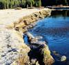 Frosty Morning, Tuolumne River, Yosemite 10-17 (inkknife_2000 (8.5 million views +)) Tags: yosemitenationalpark california usa landscapes mountains snowonmountains cahwy120 tiogapassroad dgrahamphoto easternsierranevada tuolumneriver frost frostonmeadow bluewater clearwater ripplesinastream
