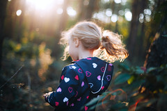 Free (mravcolev) Tags: child girl sunset flare sunflare portrait canoneos5dmarkii 5dmkii 5d2 50mm canonef50mmf14usm autumn forest hair curlyhair emotions blurry