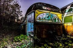 Twlight Glow (Pixel Fusion Photography) Tags: abandon abandoned decay decaying train trolley tracks trains urbanex urbanexploration urbex urbanexploring