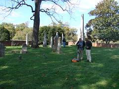 Bryan H, Matt R. GPR in Madison cem. (Montpelier Archaeology) Tags: slavecemetery gpr