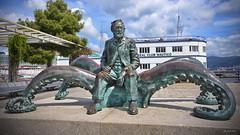 """Jules Verne"" Statue Vigo. (Pensioner Percy) Tags: julesverne vigo spain kirkdouglas nikond7200 sigma1020mm ventura po cruise vacation nikon sigma sigma1020mmlens pensionerpercy 20000leaguesunderthesea nautilus captainnemo sea ocean atlantic submarine flickr"