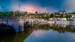 La Meuse namur - 3990 (YᗩSᗰIᘉᗴ HᗴᘉS +9 500 000 thx❀) Tags: bridge water meuse aa belgium yasminehens waterscape landscape
