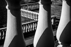Abstract #7 [Explored]©2017 Steven Karp (kartofish) Tags: waterworks philadelphia abstract blackandwhite schuylkillriver shadows pattern fuji fujifilm xt2 museumofart railing balusters