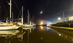 Some Distant Memory (Keith Midson) Tags: launceston tasmania night seaport boats marina yachts tamar tamarriver jetty wharf evening moon clear still calm