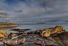 On a Rocky Shore (Denis Moynihan) Tags: landscape seascape sea sky coast shore beach water tide sand rock pool cloud cliff walk donabate portrane fingal dublin ireland