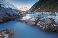 HOOKER RIVER (Benz Catbagan) Tags: surnise landscape newzealand photo photography mountcook southisland longexposure