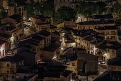 Toledo asleep (karinavera) Tags: city longexposure night photography cityscape urban ilcea7m2 toledo street españa lights aerial spain luces