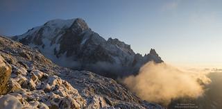 Sunrise at Montblanc and Cresta Peuterey N°2