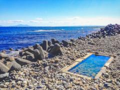 Aidomari Onsen (moaan) Tags: rausucho hokkaido jp spa onsen outdoorspa pebblepeach sea seascape sky horizon northmost nopeople nature naturephotography utata 2017 iphone iphone5 iphonegraphy