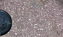 Pinkish-reddish porphyritic dacite (Upper Pleistocene, 27 ka; Devastated Area, Lassen Volcano National Park, California, USA) 4 (James St. John) Tags: pleistocene dacite devastated area lassen volcano national park california cascade range volcanoes volcanic igneous rock rocks