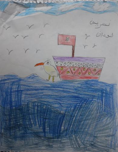 """dessin """"l'oiseau et l'enfant"""" (5)"""