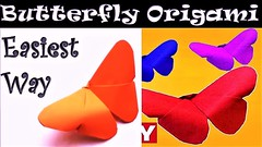 Easy Origami Butterfly Tutorial - How to Fold a Butterfly Origami - Paper Made Tricks DIY Craft (amazingworld01) Tags: easy origami butterfly tutorial how fold paper made tricks diy craft