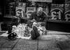 Unusual roadside seller (lyndakmorris) Tags: pavement kent shop street selling homeles canterbury favershamweeknd