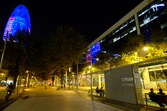 DSCF0866 (elmartin76) Tags: barcelona agbar tower glories reflection