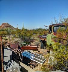 crickethead inn truck (JoelDeluxe) Tags: saguaro national park border crickethead inn tucson az arizona cacti landscape bednbreakfast nighttime long exposures stars wideopen skies joeldeluxe