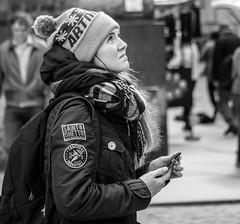 A Girl in Dresden (Germany) (..Jan.) Tags: girl frau dresden city innenstadt bnw schwarz weis portrai street strasse strase