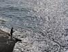 PESCATORE IN UN MARE DIAMANTATO (ADRIANO ART FOR PASSION) Tags: mare pescatore controluce liguria mattino nikon nikond90 nikkor18200 costa rupe roccia borghettosantospirito acqua