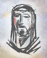 Jesus Christ Face vector illustration (iknuitsin) Tags: god jesus sacred blood catholic charcoal christ christian divine drawing face faith handdrawn holy illustration passion religion religious spiritual vector mexico
