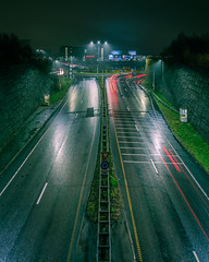 Road to Lillestrøm (Lundeful) Tags: cityscape landscape city oslo norway lillestrøm canon sony a7r a7 a7rii l lens 1635 wide angle moody dark night rain rainy lights timelapse long exposure cloudy sky ground