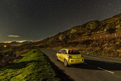 A Holiday Treat (Rob Pitt) Tags: llynnau mymbyr capel curig north wales cymru stars moonlit moonlight vauxhall adam night tokina 1116 dark sky hss