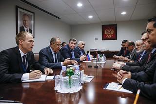 С.В.Лавров и Ф.Саррадж   Sergey Lavrov & Fayez al-Sarraj