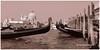 venezia (sanino fabrizio) Tags: gondole mare laguna canale barca imbarcazione ormeggio venezia italia bianco e nero monocromo canon 550d