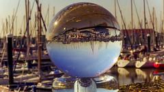 Le port de Blankenberge (YᗩSᗰIᘉᗴ HᗴᘉS +8 500 000 thx❀) Tags: blankenberge belgium cristal crystal crystalball bouledecristal boule port haven boat voilier mer merdunord europa europe hensyasmine
