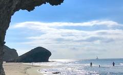 Contraluz en playa Monsul, Almería. (eustoquio.molina) Tags: monsul cabo de gata almería contraluz