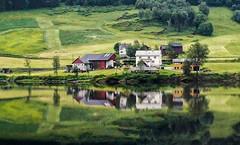 Farm Reflections - Norway (j-rye) Tags: farm norway sony sonynex3 serene reflections sonyalpha barns tranquillity mtg