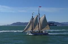 "...sailing in the Bay (Allyndon) Tags: goldengatebridge sanfrancisco ""goldengatebridge"" bridge ocean bay boat sailing flickrfriday dogme95"