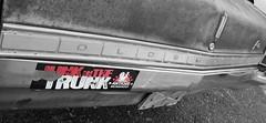 junk in the trunk (David Sebben) Tags: junk trunk oldsmobile f85 american pickers bumper sticker antiquearcheology iowa selective color