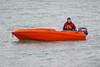 Bright Orange speedboat (David Blandford photography) Tags: orange speedboat calshotbeach hampshire southamptonwater