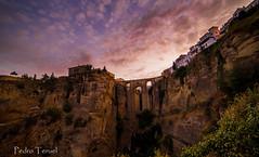 Puente Nuevo al amanecer (Ronda) (pedrojateruel) Tags: málaga andalucía ronda puente nuevo amanecer nubes