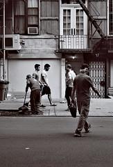 27 St. Mark's Place (sjnnyny) Tags: stevenj sjnnyny nyc manhattan streetphoto mono bw eastvillage stmarksplace people sonys6000 50mm emount sel50f18b