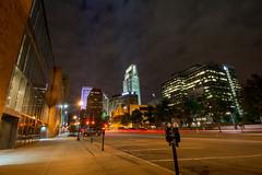 Downtown Omaha (treydavisonline) Tags: nikon d7100 omaha nebraska downtown skyline hotel long exposure night lights cars parking meters street