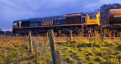 66758 6M74 (Rossco156433) Tags: barassie scotland ayrshire southayrshire train loco locomotive diesel engine gbrf class66 shed freight gbrailfreight gm generalmotors 66758