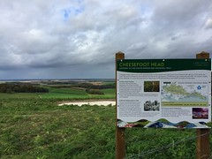 Cheesefoot Head Sign (Marc Sayce) Tags: sign countryside cheesefoot head matterley bowl winchester hampshire south downs way national park england autumn october 2017