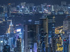 Vibrant and blue nightscape 五光十色 (cyangLtravel) Tags: colorful speedy nightlife energetic stunning hongkong harbor buildings urban neon lights lighting beautiful trails crowded hilltop mansions landscape cityscape atmosphere