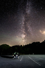 Night sky at the beach parking lot (jxtr) Tags: 14mm canon6d milkyway newyork fingerlakes starrynight longexposure nightonearth nightphotography astrophotography astrophotographers