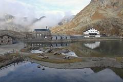 Col du Grand St-Bernard (bulbocode909) Tags: valais suisse italie coldugrandstbernard montagnes nature automne brume lacs maison hôtels reflets bleu