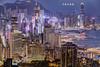 D67_6572_fused (brook1979) Tags: 寶馬山 紅香爐峰 札甸山 香港 夜景 大樓 高樓大廈 hongkong hk hdr night building