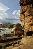 Badami Caves and the Jamia Masjid (Anoop Negi) Tags: badami caves sandstone cliffs hindu religion islam mosque history tipu sultan travel tourism heritage unicef anoop negi karnataka india ezee123 photo photography