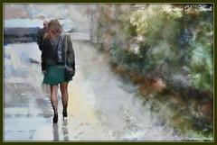 Donna con gonna verde - Settembre-2017 (agostinodascoli) Tags: donna art digitalart digitalpainting agostinodascoli photoshop photopainting colore fullcolor texture