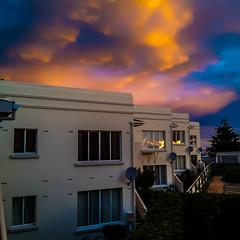 Sunset in Timaru (davehay3) Tags: sunset apartments artdeco newzealand southcanterbury timaru carolinecourts carolinebay