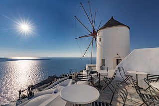 Windmill at Oia - Santorini
