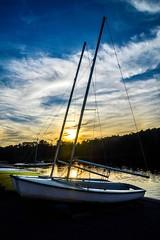 Sailing Away (Beangrau12) Tags: sunset sailboats lake clouds colors