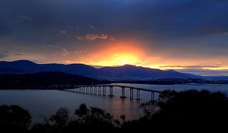 The TASMAN BRIDGE at SUNSET