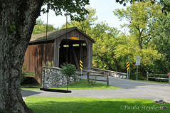 Hunseckers Mill Covered Bridge (Paula Stephens) Tags: covered bridge americana historic landmark building structure road transportation vintage rural lancaster pennsylvania